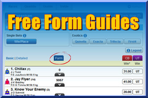 Free online form for today's races